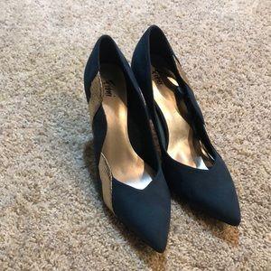Fioni Heels Dark Green Patent Pointed Toe Heels